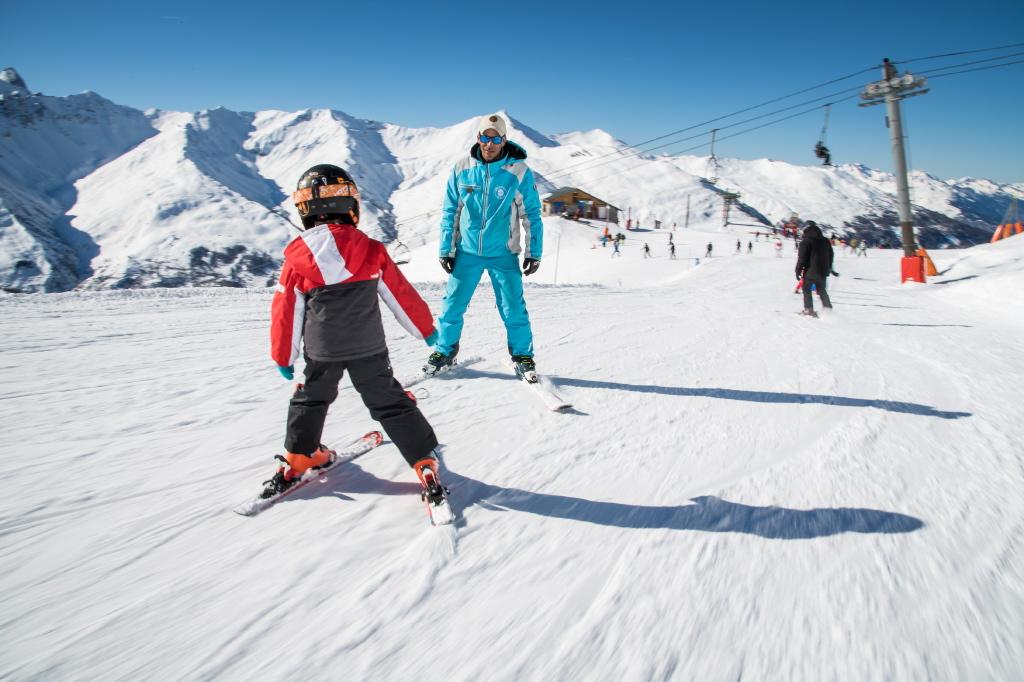 apprendre à faire du ski aux enfants